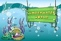 GooEoo 水中世界の背景7x5ft漫画の写真の背景ゲームデザイン分離層ゲームアートホリデーアドベンチャーバブル写真の背景