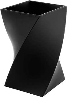 Zodaca [Wave Design] Pen Holder Soft Touch Wave Pen Pencil Ruler Cup Brush Holder Desktop Stationery Makeup Organizer, Black