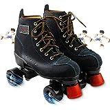 Zapatos De Patinaje De Cuero De Cuatro Ruedas, Patines De Dos Hileras para Principiantes Niños Niñas Jóvenes para Interiores Y Exteriores Ideal para Patinaje Artístico Y Rítmico,41