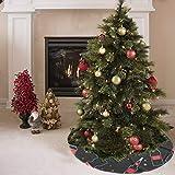 Falda para árbol de Navidad Moda Creativa Color Botella de plástico Imprimir Falda con Estampado de árbol Poliéster Sello Falda para árbol Alfombra para Fiesta Decoraciones navideñas Adornos de Navid