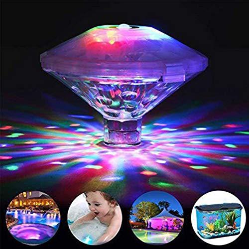Leikance Unterwasser-LED-Licht, kuppelförmig, bunt, schwimmend