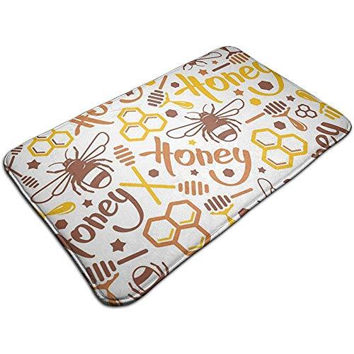 Liumt natuurlijke honing bij geheugen schuim bad mat flanel niet slippen badkamer tapijten fluwelen bad tapijt voor douche vloeren, badkamer decoraties