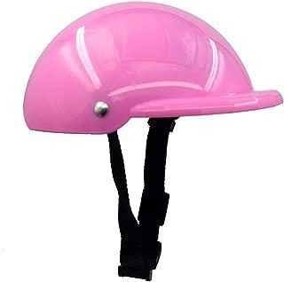 Gorgester Pet Dog Helmet Cap Hat ABS Plastic Doggie Puppy Riding Motorcycles Bike Helmet Sun Rain Protection for Small Pet (S, Pink)