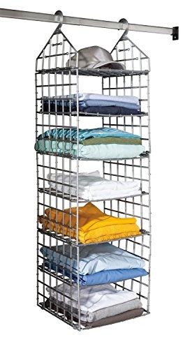 Hängeregal Klamottenaufbewahrung Kleiderschrankorganizer | 31 x 113 | Kunststoff | 7 Etagen