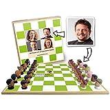 Luudoo Personalisiertes Schachspiel - Bedruckt mit ihren Bildern - Holzvariante mit 3D-Figuren