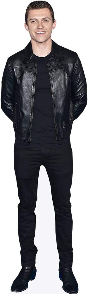 Black Outfit Celebrity Cutouts Tom Holland Pappaufsteller Mini