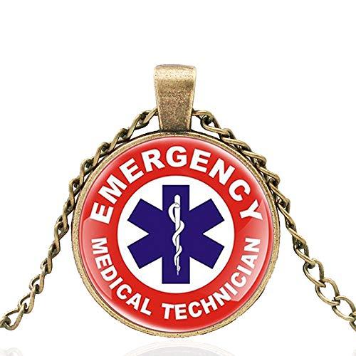 TUDUDU Técnico Médico De Emergencia Cúpula De Vidrio Collar Clásico De Metal Vintage Hombres Y Mujeres Joyas Cadena De Regalo Longitud 80 Cm