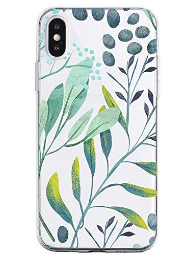 Suhctup Compatible con iPhone 6/iPhone 6S Funda Flor de TPU Transparente Diseño de Flores Patrón Cárcasa Ultra Fina Suave con Dibujos Claro Silicona Antigolpes Proteccion Caso(A11)
