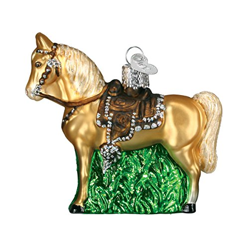 Old World Christmas Selection of Horses Glass Blown Ornaments for Christmas Tree Western