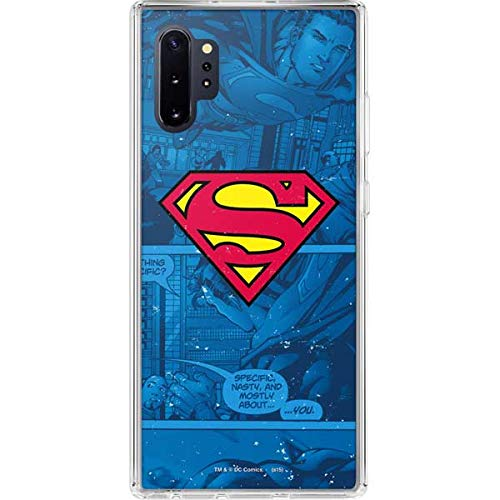 Skinit Clear Phone Case for Galaxy Note 10 Plus - Officially Licensed Warner Bros Superman Logo Design