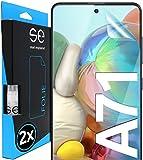 3D Película Protectora - Protector de Pantalla para Samsung Galaxy A71 [2 unidades | smart engineered] - Pelicula vidrio TPU -Transparente, Case-friendly, Sin vidrio pero Lámina Blindada de TPU