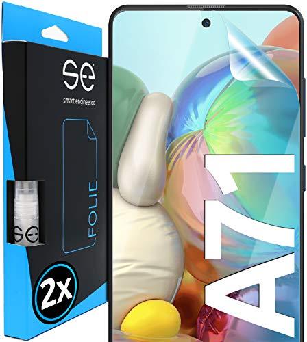 [2 Stück] 3D Schutzfolien kompatibel mit Samsung Galaxy A71, hüllenfre&liche durchsichtige HD Bildschirmschutz-Folie, Schutz vor Dreck & Kratzern, kein Schutzglas - smart Engineered