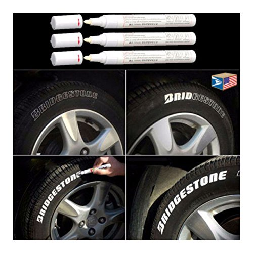 COLIBROX 3 LOT TIRE LETTERING White PAINT PEN WHITEWALL SIDEWALL LETTER RUBBER OIL MARKER