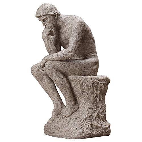 DERATON Denker Charakter Sandstein Skulptur, Home Decoration Statuen, Abstrakte Harz Dekorative Sammlung, Geeignet Für Wohnzimmer, Schlafzimmer, (11 X 14 X 26 cm)
