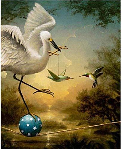 Houten puzzel 1000 stukjes,volwassen 1000 Stuks Puzzel Watervogels En Kolibrie Kunst Schilderijen Houten Puzzel Familie Puzzel Leuk Spel Kinderen Puzzel Volwassen Unieke Decompressiegift 75X50Cm
