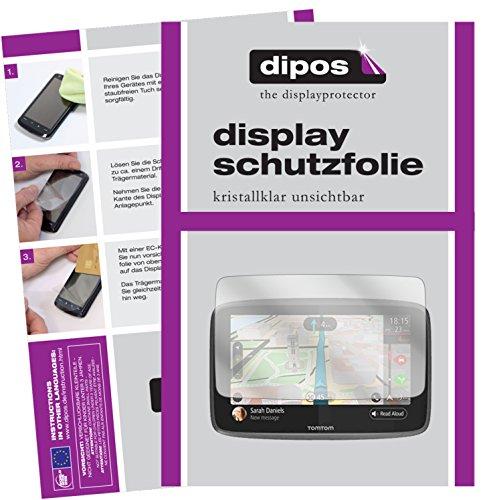 dipos I 3X Schutzfolie klar kompatibel mit Tomtom Go 620/6200 Folie Displayschutzfolie