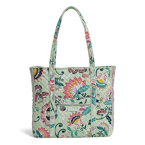 Vera Bradley Women's Bag Vera Bradley Women s Signature Cotton Vera Tote Totes Mint Flowers One Size, Mint Flowers, One Size US