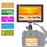 ANDCYINE X7 7Inch Ultra Brightness Camera Video Monitor CNC Al Housing 1920x1080 Camera Filed Monitor Accept 4K HDMI Input/Output Camera Field Monitor Compatible for Sony,Canon,Panasonic,Fuji DSLR