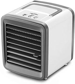 Acondicionador de aire, aire acondicionado, mini ventilador, aire acondicionado portátil de casa, refrigeración por aire, escritorio, carga por USB, ventilador de aire acondicionado ( Color : Blanco )