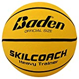 Baden SkilCoach Heavy Trainer Rubber Basketball, 28.5-Inch