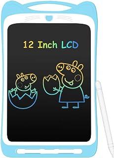 AGPTEK Tavoletta Grafica LCD Scrittura 12 Pollici Colorato con Pulsante di Blocco,Lavagna da Disegno Cancellabile Portatil...