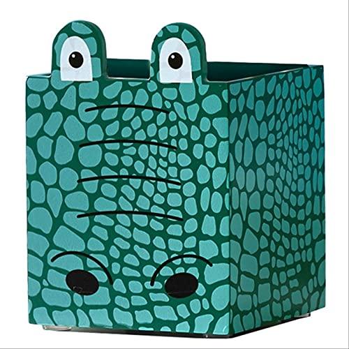YYUKCDOG Creativo Lindo Caja de Almacenamiento de Escritorio para niños portalápices de Madera papelería de Oficina Adornos de Almacenamiento de Cepillo cosmético para el hogar