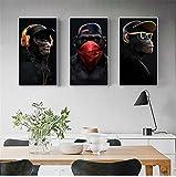 MJEDC Affen Bilder mit Kopfhörer, Lustige AFFE Bild