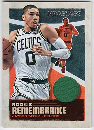 Jayson Tatum 2019-20 Panini NBA Hoops Rookie Remembrance Jersey Card Boston Celtics