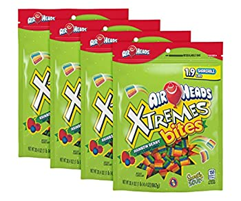AIRHEADS XTREMES BITES RAINBOW BERRY PARTY 30.4 OZ STAND UP BAG  PACK OF 4