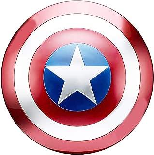 20 inch Captain America Shield Full Metal Handheld Movie Edition Bar Creative Soft Wall Decoration Pendant Aluminum America Men's Props Adult Cosplay Shield