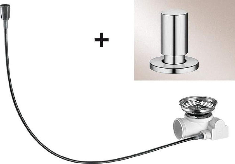 whiteO pop-up waste add-on kit, round, chrome, 517544