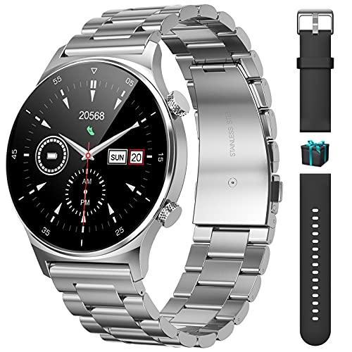 LIGE Reloj Inteligente Deporte con Pulsómetro y Monitor de Sueño,1.32 Pulgadas Pantalla Táctil Completo Smartwatch Resistente al Agua IP68 Actividad Cronómetros Calorías para Android e iOS