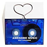 2021 Awesome Music Mixtape Mini Desk Calendar, Retro Cassette Christmas Holiday Gift and Decoration 60s 70s 80s 90s Songs in Vintage Tape Shape for Music Lover C24