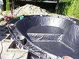 PVC Teichfolie 0,50 mm schwarz - 4 x 5 m