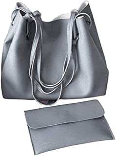 Prettyia Womens Leather Tote Purse And Handbags Set