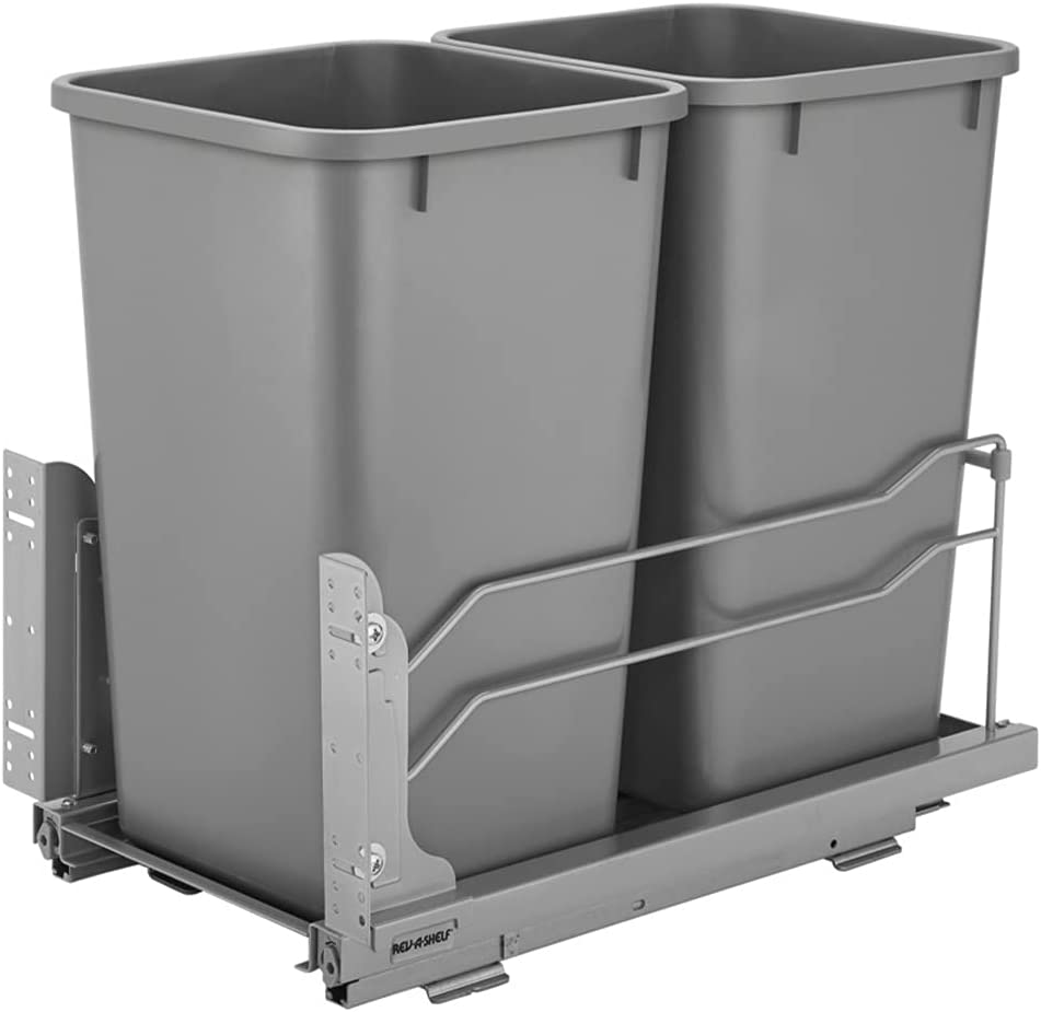 Rev-A-Shelf 53WC-1527SCDM-217 Double 27-Quart Cabin Kitchen OFFicial mail order Very popular Base