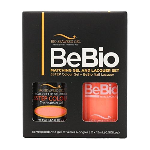 BIO SEAWEED BEBIO Matching Gel and Lacquer Set (#30 Salmon Pink)
