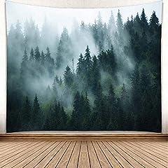 Wandbehang Nebel Wald