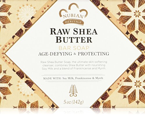 Nubian Heritage Bar Soap, Raw Shea and Myrrh 5 Ounce, Pack of 6