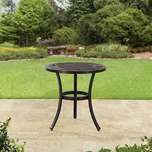 sunjoy patio furniture sets Sunjoy Cahill 28 in. Aluminum Accent Table, Black