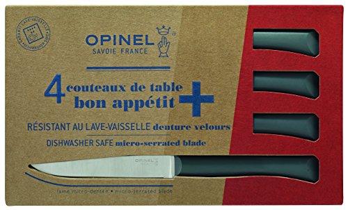 Opinel Tafelmesser-Set Bon Appetit+, anthrazit, Edelstahl, Blau, M