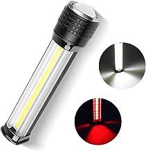 SZMYLED LED-zaklamp, werklamp, XHP70+COB rood licht zaklamp USB oplaadbare LCD-scherm outdoor zaklamp zwart