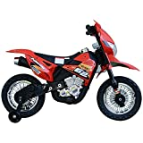 Aosom Cruising Kids Dirt Bike Electric Motorcycle with Charging 6V Battery, Real Driving Sounds, & Built-in Music, Red