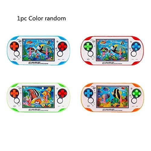 Máquina Juego Retro para niños Máquina Anillo Agua - Cultive la Capacidad de Pensar los niños Juguetes Mini Consola Juegos portátil Juguetes interactivos para Padres e Hijos (1 Pieza Color Aleatorio)
