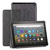 Foluu - Custodia per tablet Kindle Fire HD 8 e Fire HD 8 Plus (10a generazione, versione 2020), sottile e leggera con supporto a tripla custodia Smart PU per Fire HD 8/Fire HD 8 Plus 2020