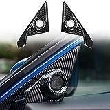 Thenice for 10th Gen Civic A-Pillar Speaker Covers Car Door Audio Loudspeaker Decorations Trims fit for Honda Civic 2020 2019 2018 2017 2016
