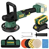 Brushless Cordless Polisher POPOMAN, 20V 4.0Ah Battery, 6 Inch Orbit 2000-5000 RPM Portable Buffer Polisher with 6 Variable Speed, 4 Sponge Pads, Tool Bag for Car Polishing, Waxing-PMPO01D