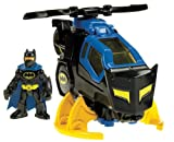 Fisher Price - Batcottero con personaggio di Batman, serie DC Super Friends della linea Imaginext