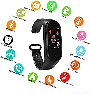 SBA999 AM4 Bluetooth Wireless Smart Fitness Band for Boys/Men/Kids/Women   Sports Watch Compatible with Xiaomi, Oppo, Vivo Mobile Phone   Heart Rate and BP Monitor, Calories Counter