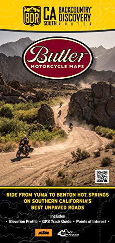 Butler Maps Southern California Backcountry Discovery Routes Map CABDR South